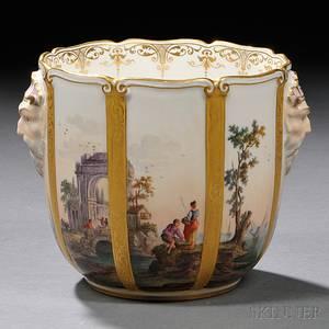 Meissen Handpainted Porcelain Cache Pot