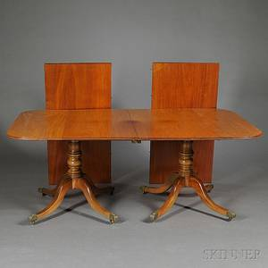 George IIIstyle Mahogany Doublepedestal Dining Table