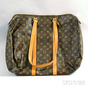 Louis Vuitton Monogrammed Canvas and Leather Softsided Bag
