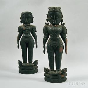 Two Indian Wood Carvings