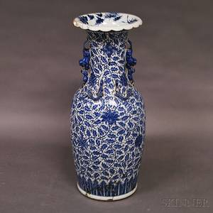 Blue and White Porcelain Palace Vase