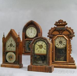Four Connecticut Shelf Clocks