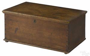 Pennsylvania inlaid walnut lock box dated