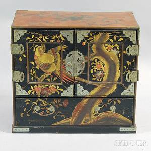Chinese Export Lacquered Tabletop Cabinet