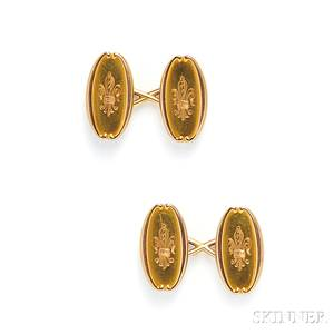 Antique 18kt Gold Cuff Links Tiffany amp Co