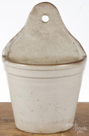 Stoneware hanging flowerpot