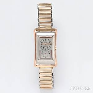 Gentlemans 9kt Rose Gold and Stainless Steel Prince Wristwatch Rolex