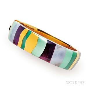 18kt Gold Gemset Bracelet Tiffany amp Co