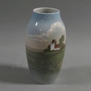 Bing  Grondahl Scenic Porcelain Vase