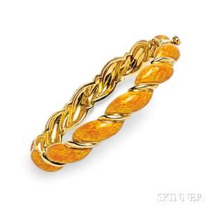 18kt Gold and Enamel Bracelet Bulgari