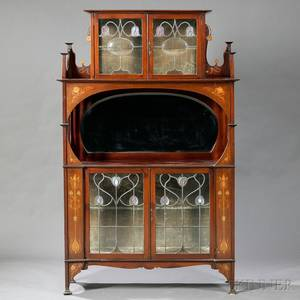 Art Nouveau Cabinet in the Manner of Shapland  Petter