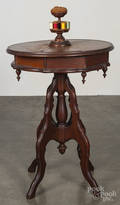 Victorian walnut sewing stand