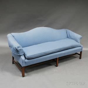Chippendalestyle Mahogany Camelback Sofa