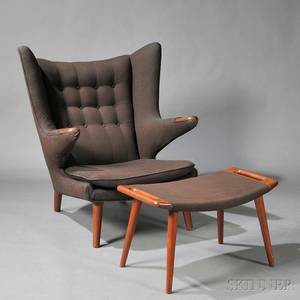 Hans Wegner 19142007 Papa Bear Chair and Ottoman