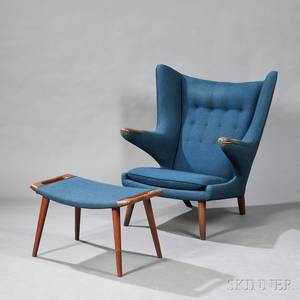 Hans Wegner 19142007 Papa Bear Chair and Ottoman