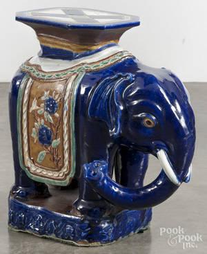 Export porcelain elephant garden seat