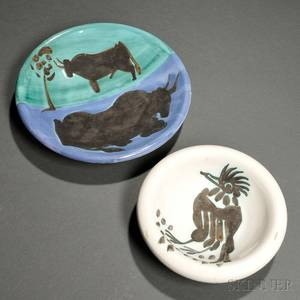 Two Pablo Picasso Spanish 18811973 Madoura Potteries Dishes