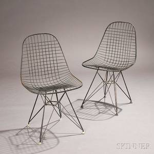 Pair of Charles and Ray Eames DKR2 Chairs
