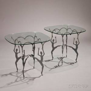 Pair of Artistdesigned Figural Side Tables