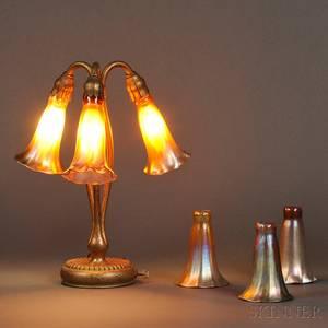 Tiffany Studios Threelight Lily Lamp