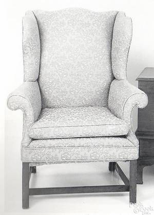 Delaware Valley Chippendale mahogany easy chair ca 1790