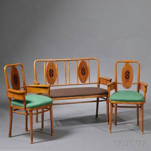Marcel Kammerer for Thonet Settee and Two Armchairs