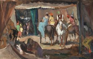 Jon Corbino American 19051964 Circus Riders