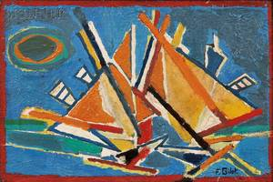 Franoise Gilot French b 1921 Bateaux II