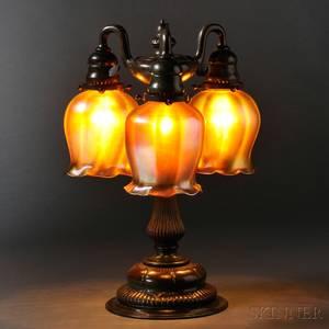 Tiffany Studios Threelight Table Lamp