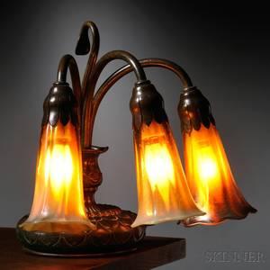 Tiffany Studios Threelight Piano Lamp