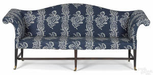 New England Federal mahogany sofa ca 1800