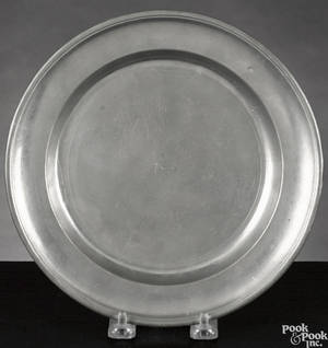 Two Philadelphia pewter deep dishes ca 1800