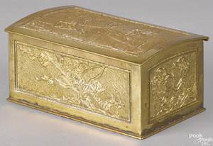 Tiffany Studios gilt bronze jewelry casket