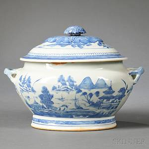 Canton Porcelain Soup Tureen