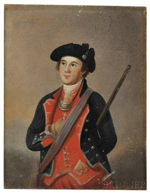 American School Late 18th Century After Charles Willson Peale 17411827 Portrait Miniature of George Washington as Colonel of the F