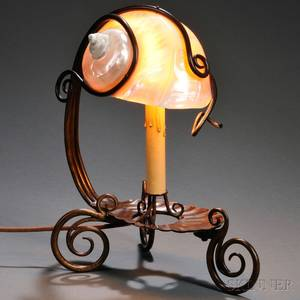 Art Nouveau Nautilus Shell Table Lamp
