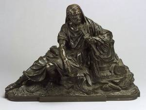French Bronze Figure of a Classical Man