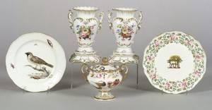 Five Pieces of Handpainted Porcelain