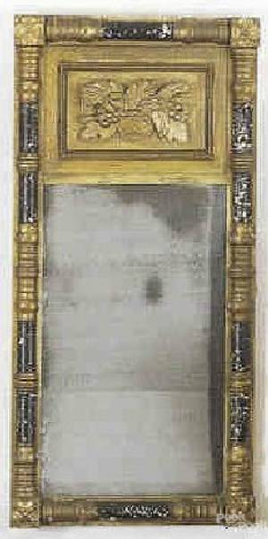 New England late Federal painted mirror ca 1840