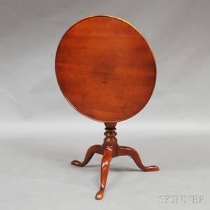 Queen Anne Walnut Dishtop Tea Table