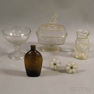 Six Assorted Glass Items
