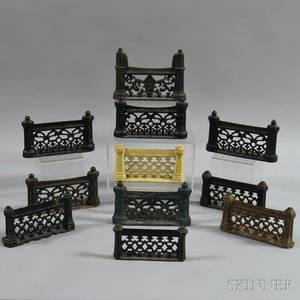 Eleven Cast Iron Fenceform Boot Scrapes