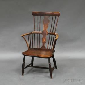 English Yew Combback Windsor Armchair