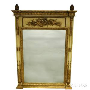 Painted and Gilt Neoclassicalstyle Pier Mirror