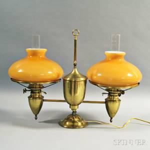 Bradley amp Hubbard Brass Double Student Lamp