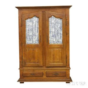 French Provincial Oak Armoire