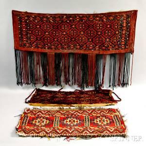 Three Small Oriental Rug Items