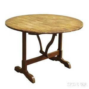 French Pine Vintners Table