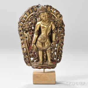 Fragment of a Giltbronze Figure of Padmapani