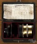 Antique Voigtlander Collinear Satz III brass camera lens